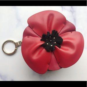 🌸NWT Kate Spade Black Poppy Ooh La La Coin Purse